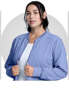 Shop luxury scrubs with silky stretch fabric