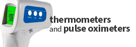 Click here to view a wide selection of thermometers, pulse oximeters and other measuring and diagnostic tools and devices