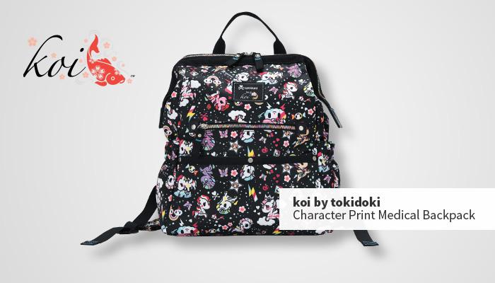 koi by tokidoki print medical backpack
